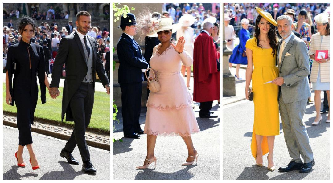David Beckham y su esposa Victoria, la presentadora Oprah Winfrey, al igual que George Clooney y su esposa, fueron algunos de los 600 invitados a la ceremonia.