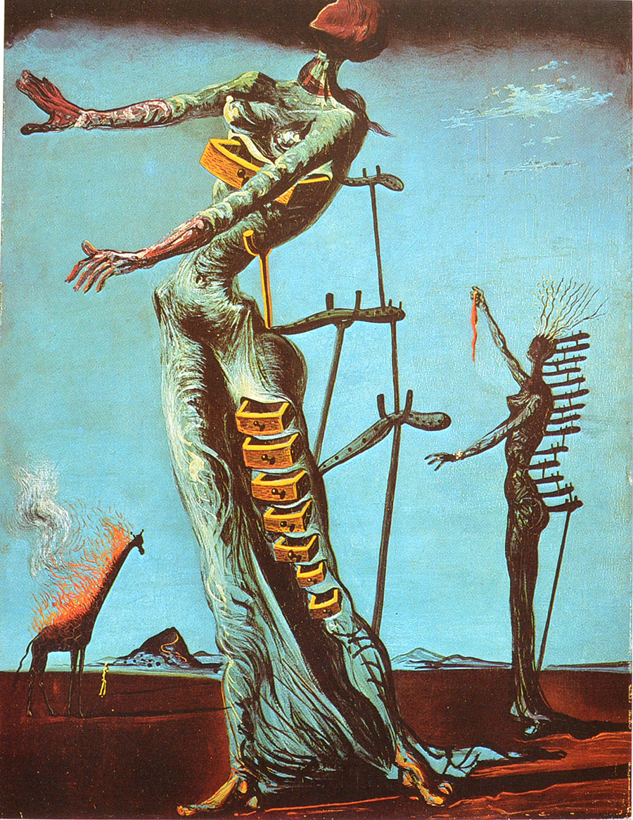 """Jirafa ardiendo"" obra de Dalí"