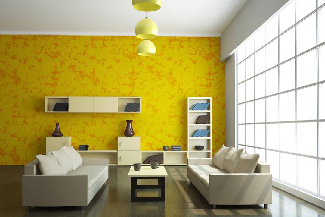 Image result for yellow green room