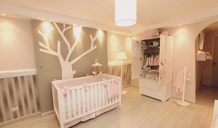 El moderno cuarto del beb mujer - Habitacion bebe moderna ...