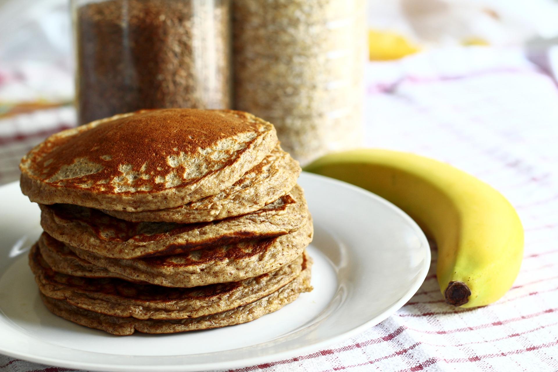 como hacer pancakes de proteina y avena